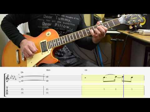 Guitar guitar cover with tabs : Magic! - Rude electric guitar cover - melody TABS - YouTube