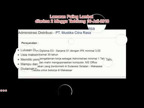 Lowangan Kerja Area Makassar