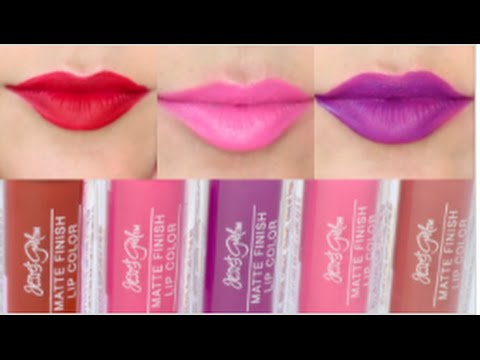 jesse s girl matte finish lip color swatches youtube