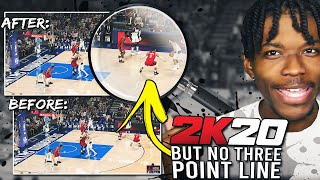 NBA 2K20, But There's No 3 Point Line