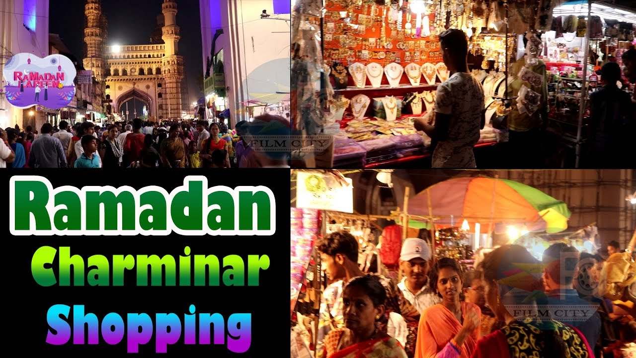 de082890 Hyderabad Charminar Ramzan Night Bazar Shopping 2019 || Ramzan || FILM CITY  – Shopping time