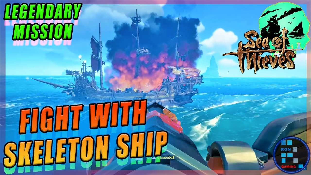 Sea Of Thieves | Intense Fight With Megalodon Shark After With Skeleton Ship