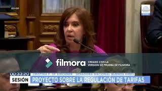 Cristina hace referencia a Catamarca en su discurso (Ley Tarifas en Senadores)