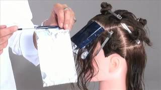 Мелирование 'елочкой'   видео урок по окрашиванию на манекене