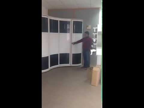 Угловой радиусный шкаф-купе