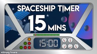 15 min Space ship flying through space countdown timer