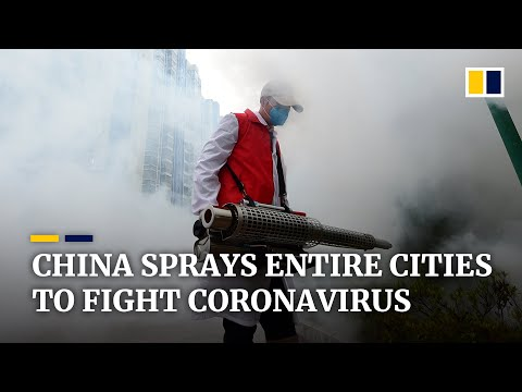 China disinfects entire