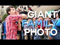GIANT Family Photo with Strangers