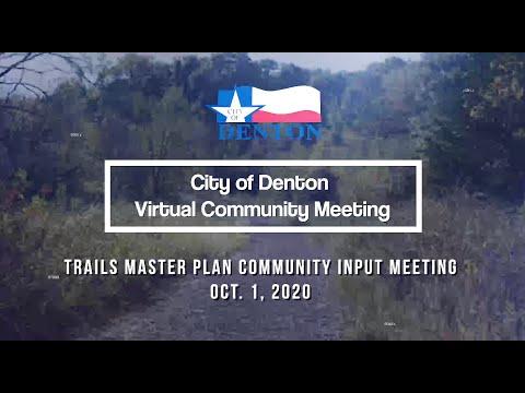 Virtual Community Meeting | Trails Master Plan, Oct. 1, 2020