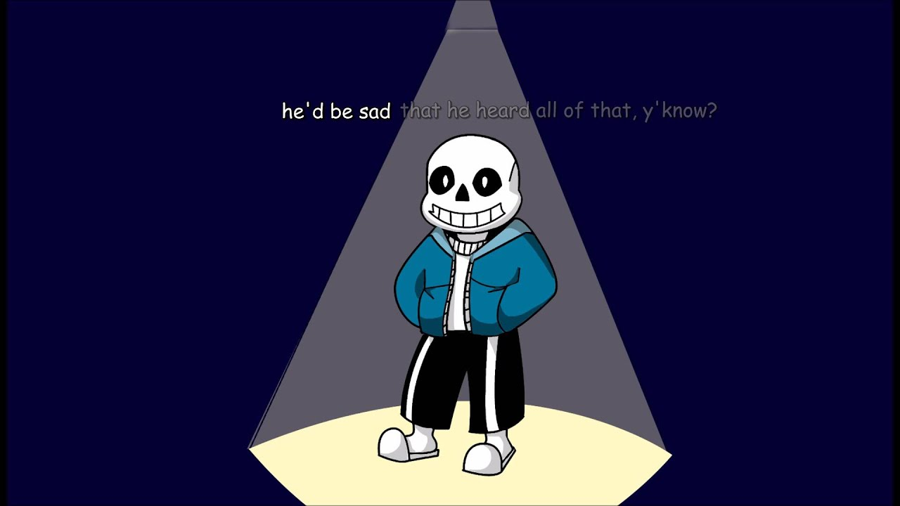 the theme that might play when you fight sans