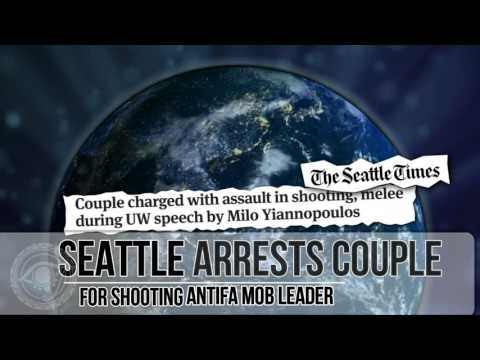 Seattle police charge conservative couple in shooting of Antifa attacker at Milo event