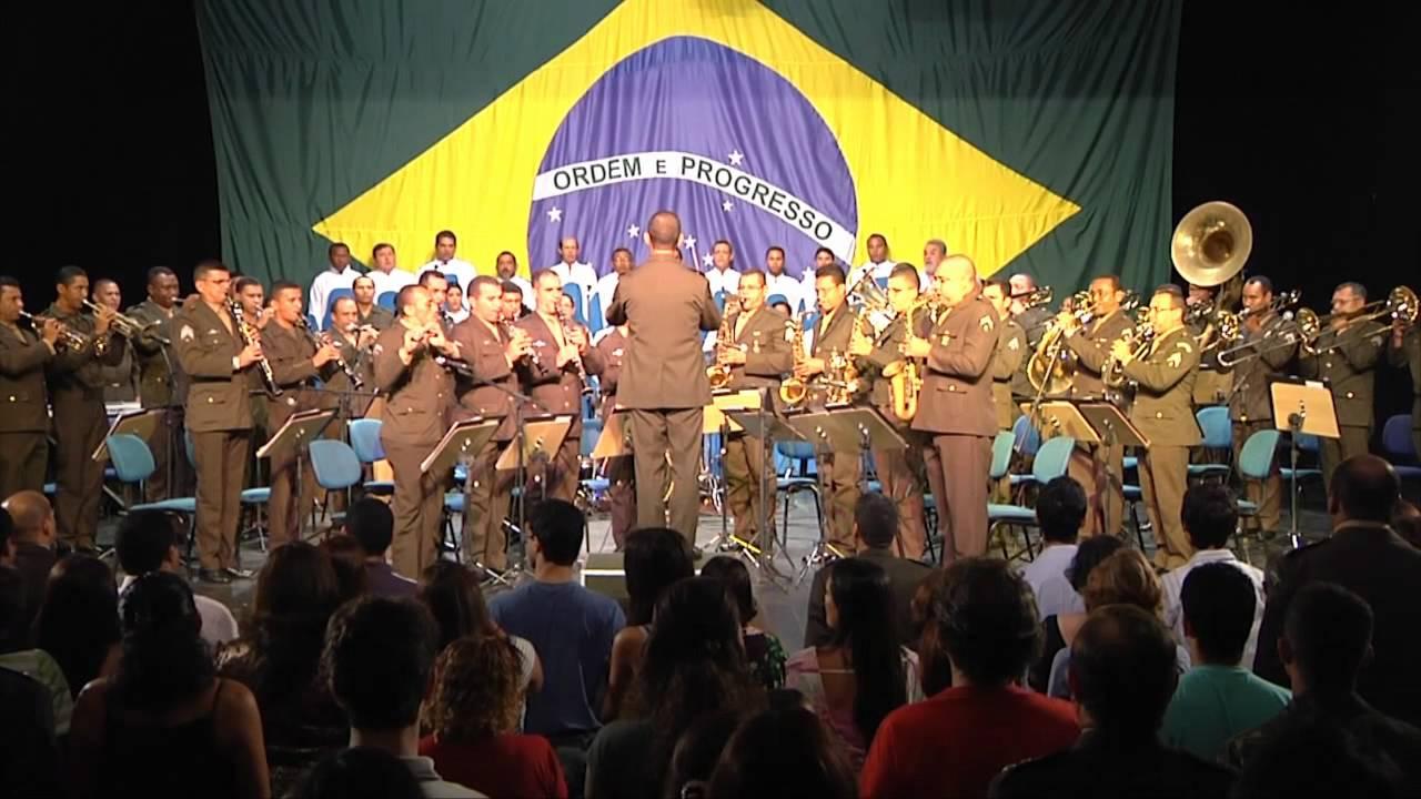 Show Banda do Exercito Hino Nacional Brasileiro | Doovi