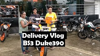 Delivery Of Duke 390 BS3 in 2017 | New bike