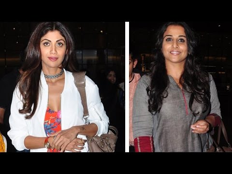 Here's What Happened When Shilpa Shetty And Vidya Balan Coincidentally Met At Airport