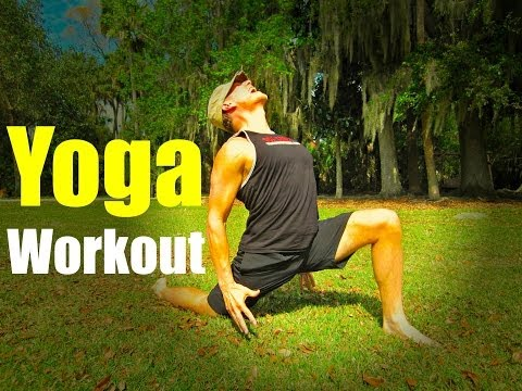 25 min power yoga workout  total fat burning routine