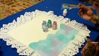 Técnicas de pintura en tela con distintos pinceles