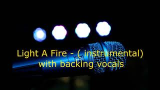 Rachel Taylor - Light a Fire ( instrumental) with backing vocals