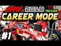 F1 2018 PS4 CAREER MODE Preview Part 1: EXCLUSIVE GAMEPLAY! (F1 2018 Game Ferrari Career)
