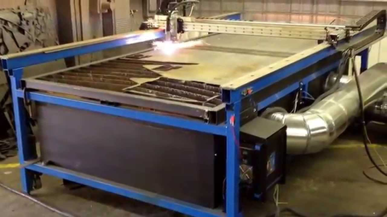 cnc plasma custom built downdraft system   youtube