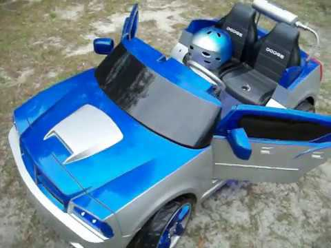 modified power wheels custom built royal blue dodge charger pt 1 youtube. Black Bedroom Furniture Sets. Home Design Ideas