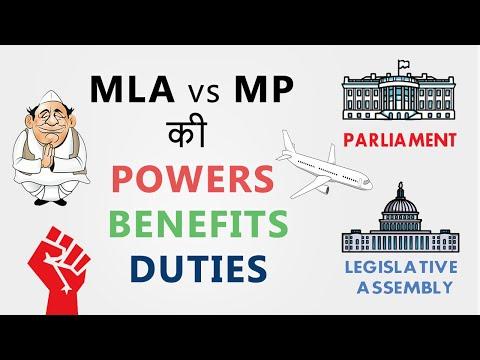 MLA vs MP Powers | Benefits | Duties | Qualification | Hindi