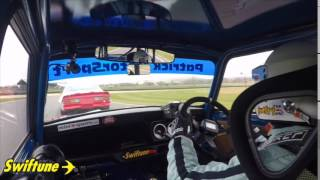 Nick Swift driving the Swiftune 1275 GT Mini Longman Replica at the...