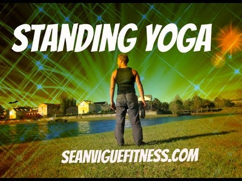 15 min Yoga Class Standing Yoga for Beginners Sean Vigue Fitness