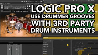 Logic Pro X - Use Drummer Grooves with 3rd Party Instruments (RESAMPLING & MIXING)