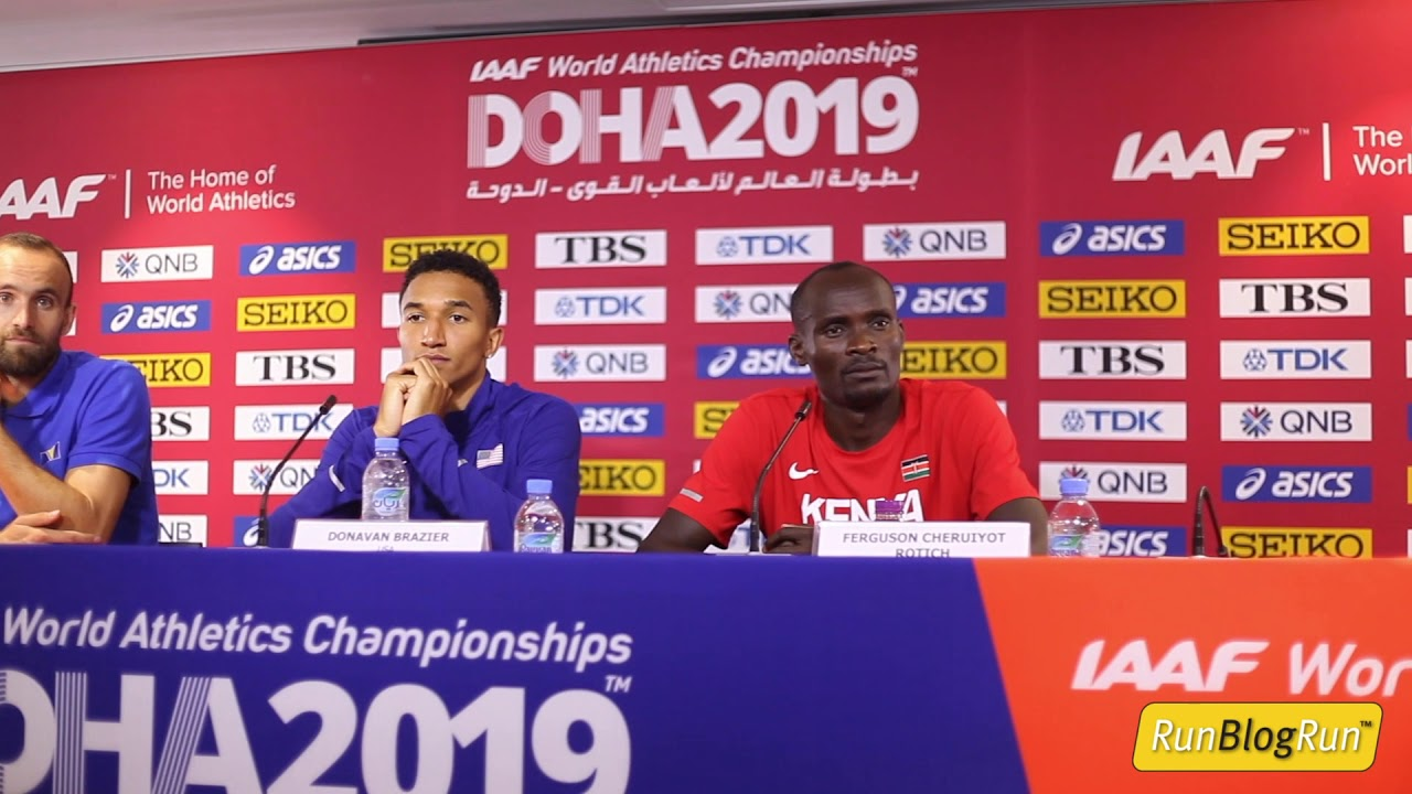 Doha WC 2019 - Men's 800m Final Press Conference