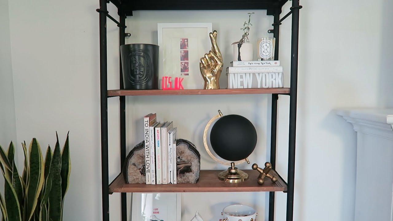 How to Style a Bookshelf - YouTube