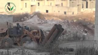 لواء أحرار سورية// أستهداف مواقع حزب pkk وجيش الثوار في حي الشيخ مقصود بكافة أنواع الأسلحة الثقيلة