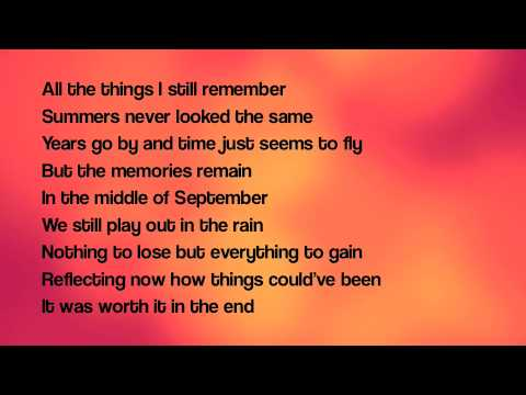 September lyrics  Daughtry