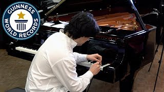 Fastest piano key hitting - Guinness World Records