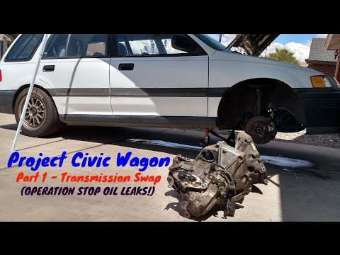 How to Remove Transmission & Clutch Replacement | 1991 Honda Civic Wagon