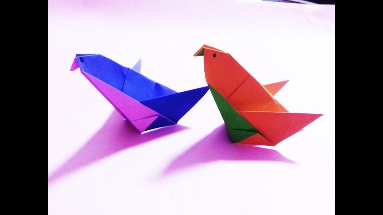 비둘기 종이접기, Dove Origami - YouTube - photo#26