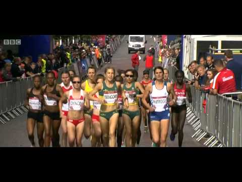 Start Of Commonwealth Games Ladies Marathon 2014