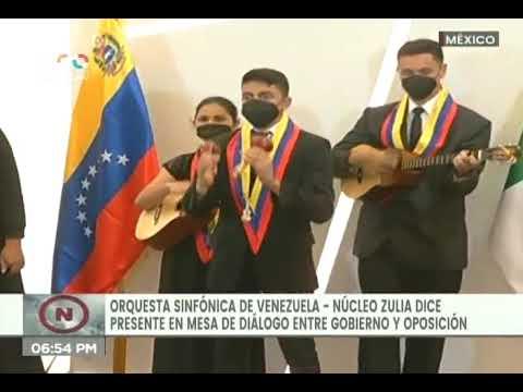 Sistema de Orquestas Zulia se presentó ante delegación del gobierno venezolano en México