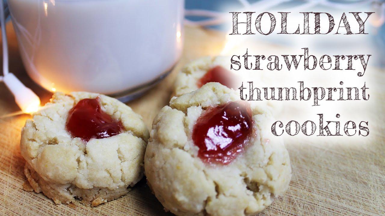 Vegan Strawberry Thumbprint Cookies   Mary's Test Kitchen