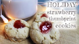 Vegan Strawberry Thumbprint Cookies | Mary's Test Kitchen