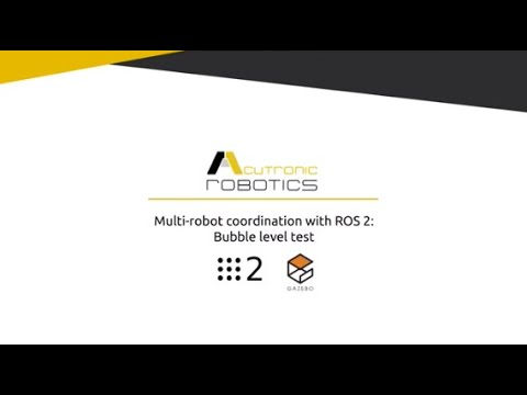 Multi-robot coordination with ROS 2: Bubble level test