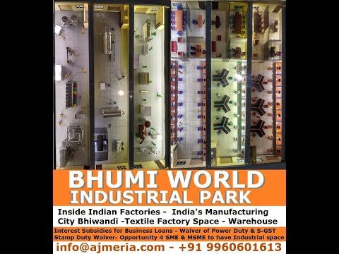Inside Indian Factories -  India's Manufacturing City Bhiwandi -Textile Factory Space - Warehouse
