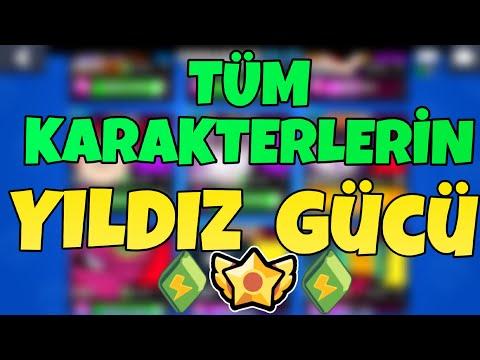 TÜM KARAKTERLERİN YILDIZ GÜCÜ ! - Brawl Stars Türkçe