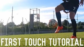 How To Control A Long Pass | First Touch Tutorial | Mastering The Perfect Touch