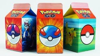 Pokemon Go Milk Carton Surprise Toys,Pikachu,Mega scizor,Mega MewTwo,Charizard,Mega Swampert thumbnail