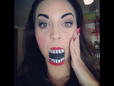 maquillaje de carnaval mueca de madera o cascanueces