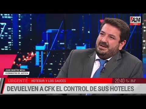 Juan Martín Mena y una clase sobre la persecución a CFK