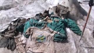Погибший альпинист на Эльбрусе