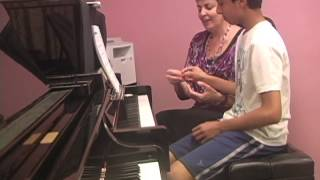 First Piano Lesson with Transfer Student