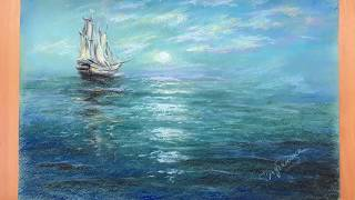 Содержание урока по рисованию сухой пастелью морского пейзажа