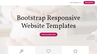 Bootstrap Responsive Website Templates - Free HTML Website Templates thumbnail